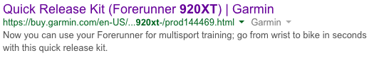 920XT Quick release