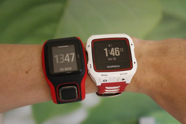 TomTom MultiSport Cardio and Garmin 920XT