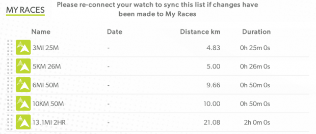 TomTom's Race presets you can use.
