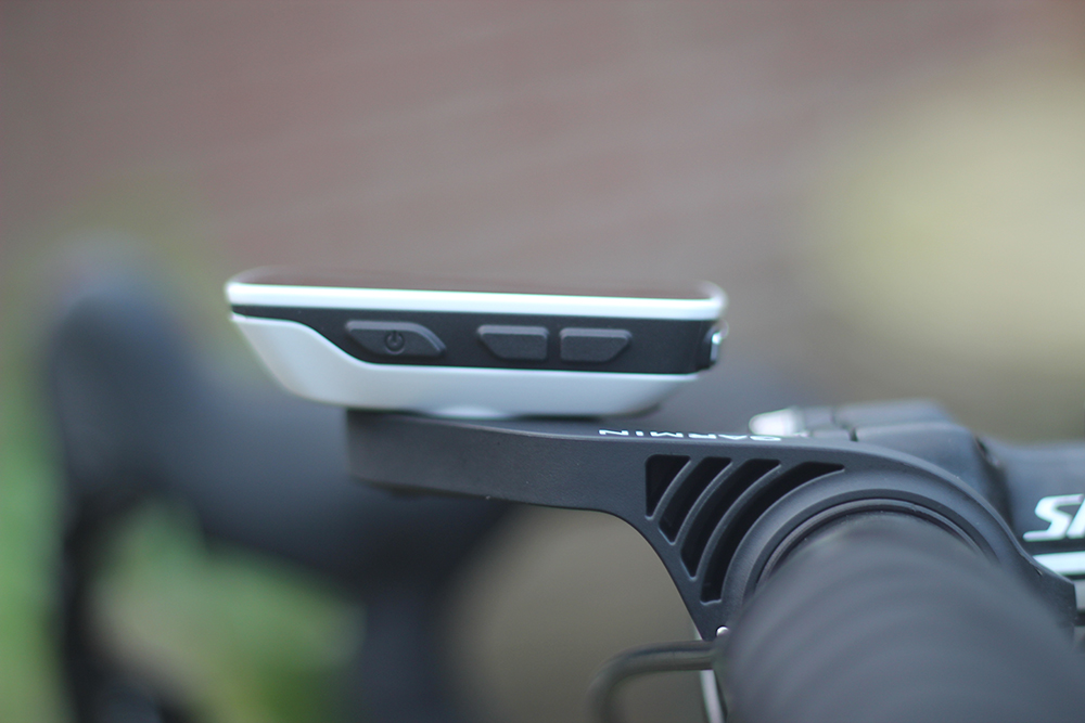 Garmin Edge 520 mounted out front