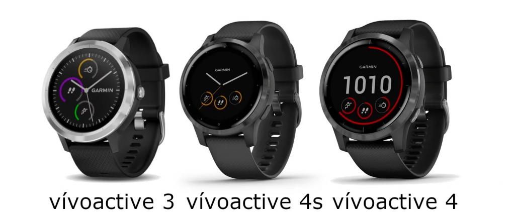 Garmin Vivoactive 3 and 4